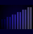 chart business graph on blue background vector image