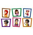 Children in frames vector image vector image