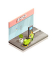 cleaning isometric composition vector image vector image