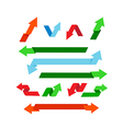 Collection of colorful arrow for decorative and vector image vector image