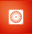 computer cooler icon isolated on orange background vector image