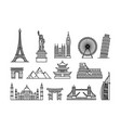 concept of famous touristic vector image