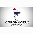 coronavirus in thailand and country flag inside vector image vector image