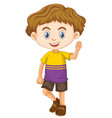 cute happy smiling child isolated on white vector image vector image
