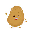 cute happy smiling funny potato vector image