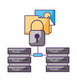 database center security folder data storage vector image vector image
