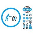 Drugs Shopping Cart Flat Icon with Bonus vector image