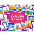explore the world - line travel vector image vector image