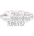 fermented word cloud concept vector image vector image
