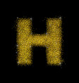 gold dust font type letter h vector image vector image