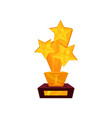 golden award in the form of stars on a stand gold vector image
