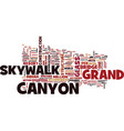 grand canyon skywalk text background word cloud vector image vector image