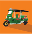 green tuk tuk in thailand vector image