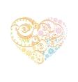 Happy Valentine Day heart decor pink blue orange vector image