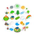 horticulture icons set isometric style vector image vector image