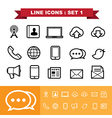 Line icons set 1 vector image vector image