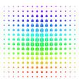 lock shape halftone spectrum grid vector image vector image