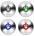 Metallic Power Button vector image vector image