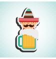 mexican culture icon design vector image vector image