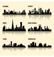 Middle East cities set vector image vector image
