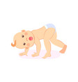 milestones babegin to crawl stands on all fours vector image vector image