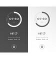 mobile application interface design clock vector image vector image