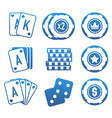 modern set of colorful gambling and casino icons vector image vector image
