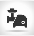 monochromatic electric meat chopper icon vector image vector image