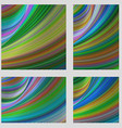 Multicolored psychedelic brochure background set