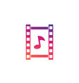 multimedia icon video and music vector image vector image
