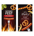 october fest poster realistic pretzel and vector image vector image