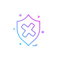 on protection security shield icon design vector image