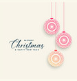 ornamental chrismtas ball decoration background vector image vector image