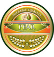 pear juice gold icon vector image vector image