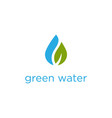 pure natural healthy water leaf logo concept vector image vector image
