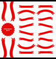 ribbon banner set 3 red vector image vector image