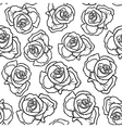 rose contour pattern vector image vector image
