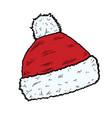santa hat christmas cap icon vector image vector image