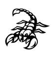 scorpion mascot logo silhouette version scorpio vector image