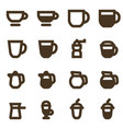 set coffee icons hot drink emblems vector image vector image