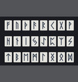 set of ancient norse runes runic alphabet vector image vector image