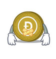 silent dogecoin mascot cartoon style vector image vector image
