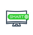 smart tv icon linear sign vector image vector image