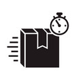 speed delivery box icon simple style vector image