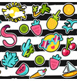 summer patches color seamless pattern vector image vector image