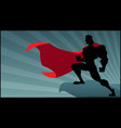 superhero rowatching silhouette 2 vector image vector image