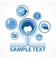 Support infographic text vector image