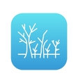 Tree with bare branches line icon vector image vector image