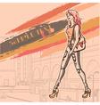 Urban fashion vector image vector image