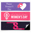 womens day banner set vector image